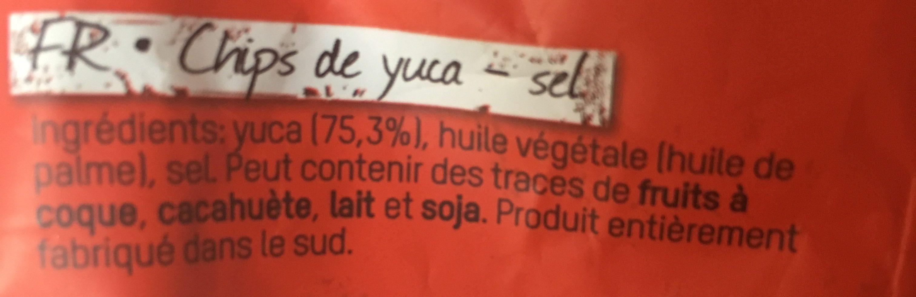 Yuca Chips - Ingredients - fr