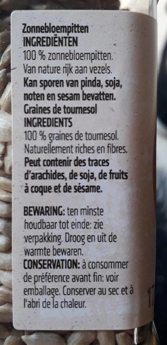 Graines de tournesol - Ingrédients