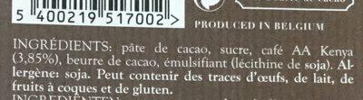Noir & Café du Kenya - Ingredients