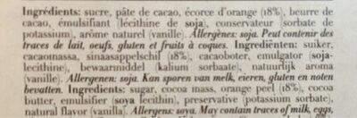 Zestes d'orange nappées - Valori nutrizionali - fr