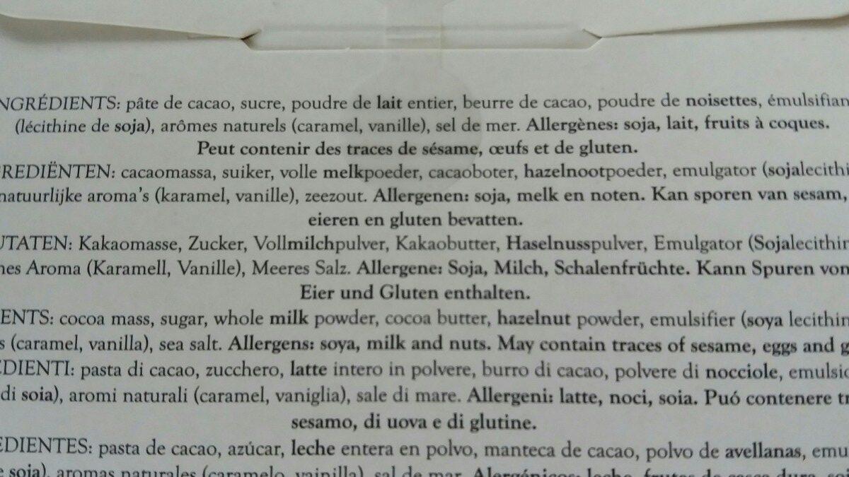 12 mini-tablettes - Ingrédients - fr