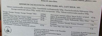 12 mini-tablettes - Informations nutritionnelles - fr