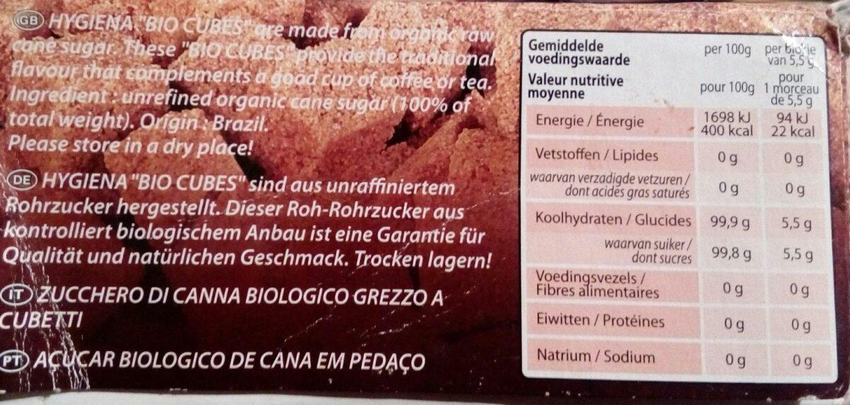Bio cubes - Ingrediënten - en