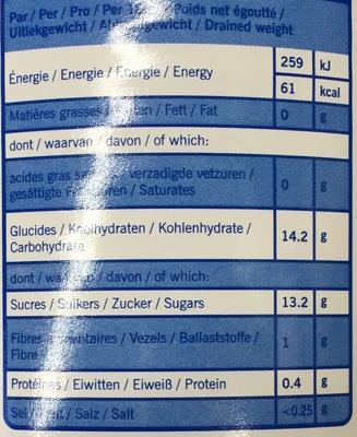 Cocktail de fruits au sirop léger - Informations nutritionnelles - fr