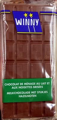 Chocolat de ménage au lait et aux noisettes brisées - Product
