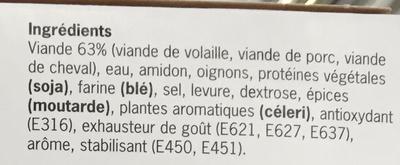 Fricandelle surgelé - Ingrédients