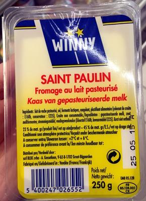 Saint Paulin (23% M.G) - Produit - fr