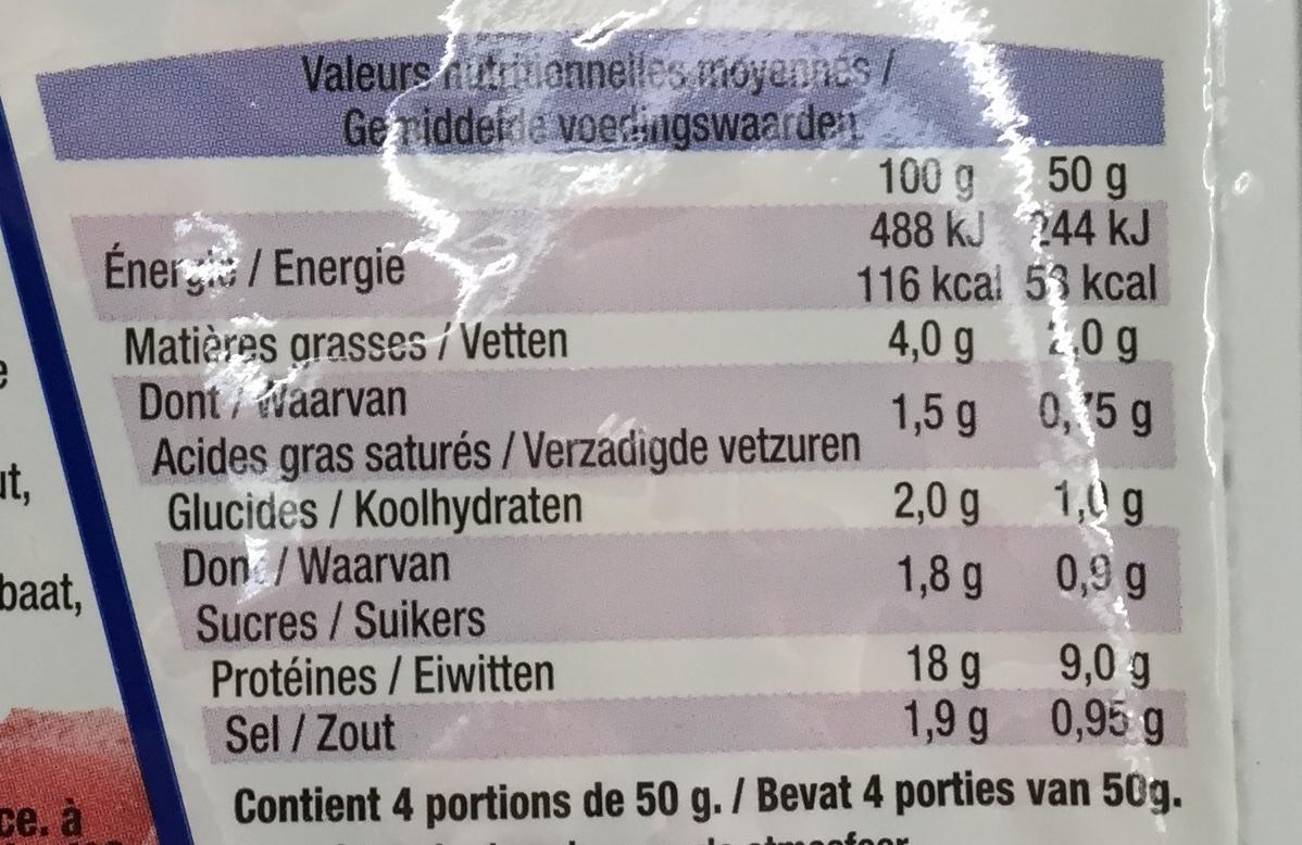 Dés de Jambon - Nutrition facts - fr