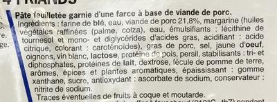4 Friands - Ingrédients - fr