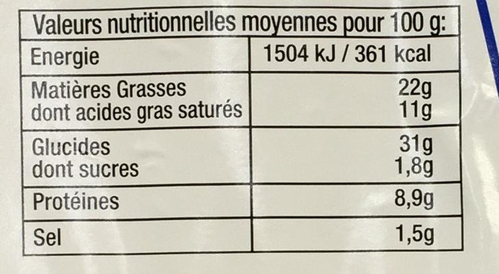 4 Friands - Informations nutritionnelles - fr
