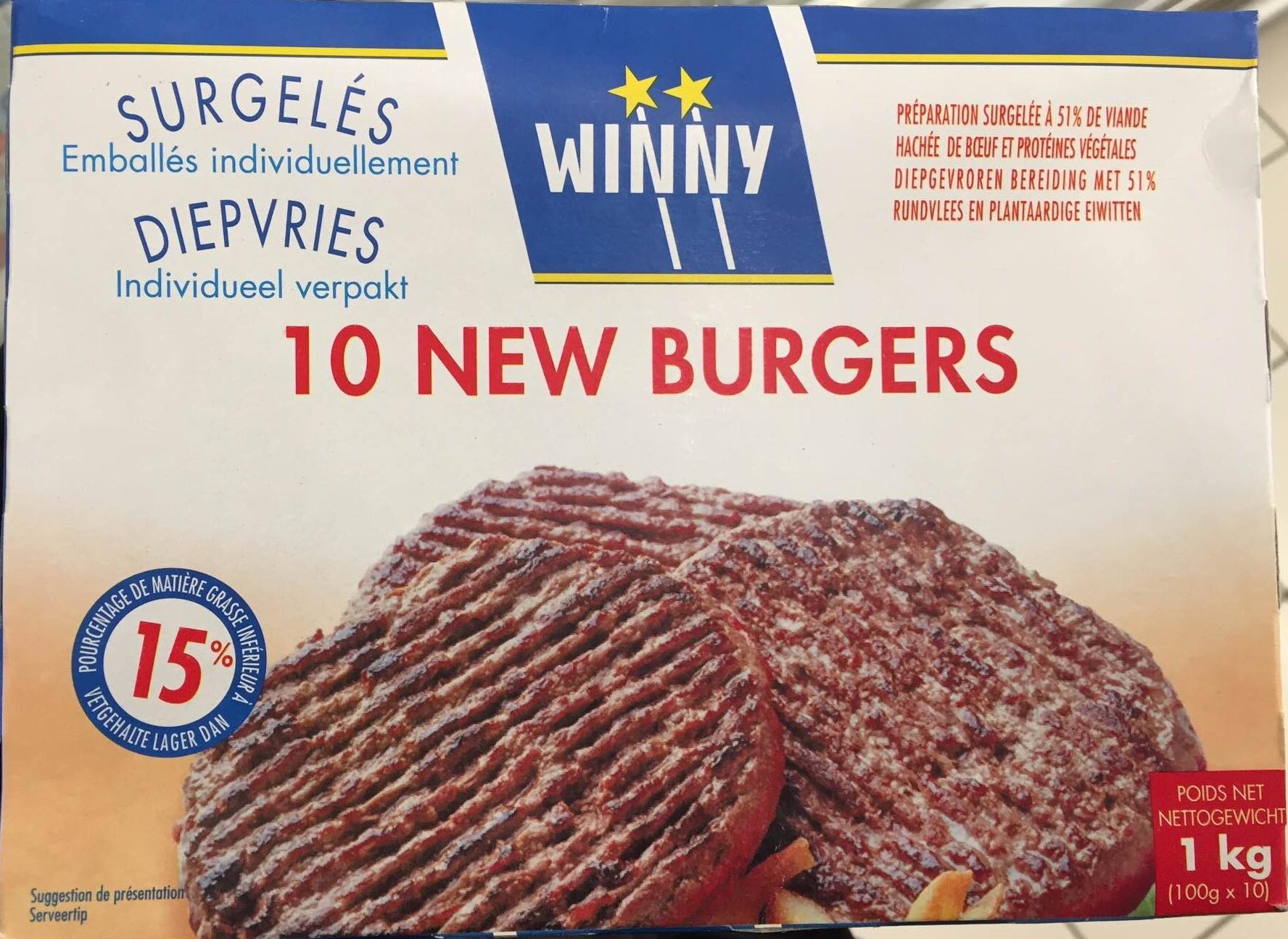 10 New Burgers surgelés - Product - fr