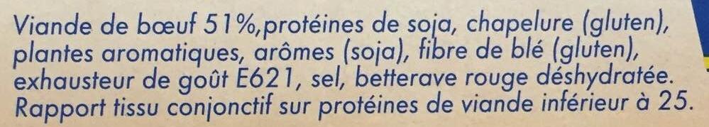 10 New Burgers surgelés - Ingredients - fr