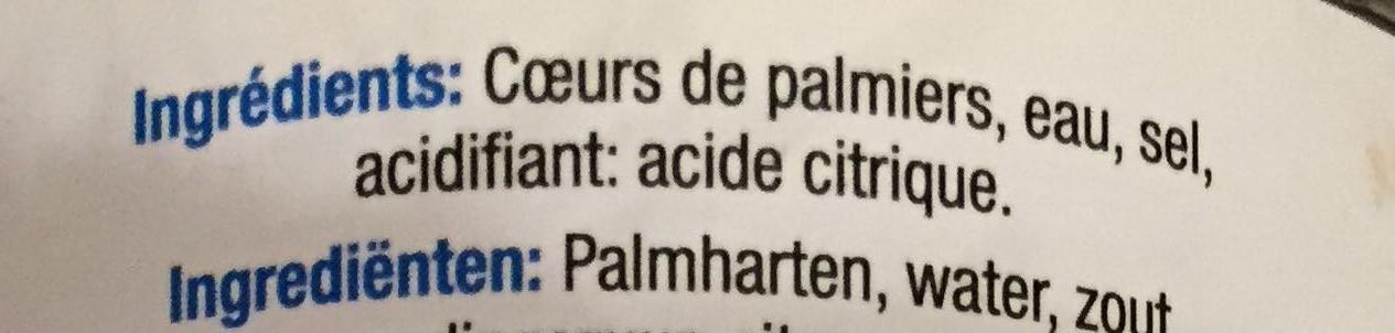 Coeurs de palmiers - Ingrediënten