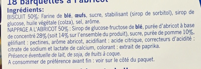 Barquettes à l'abricot - Ingredients