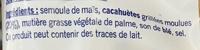 Snacks goût Cacahuète - Ingrediënten