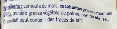 Snacks goût Cacahuète - Ingrédients