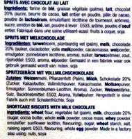Sprits avec Chocolat au lait - Ingrediënten - fr