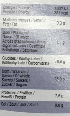 Choco Rice - Voedingswaarden - fr