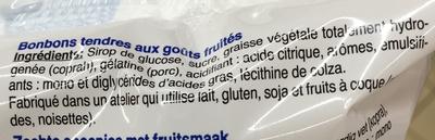 Bonbons tendres - Ingrédients - fr