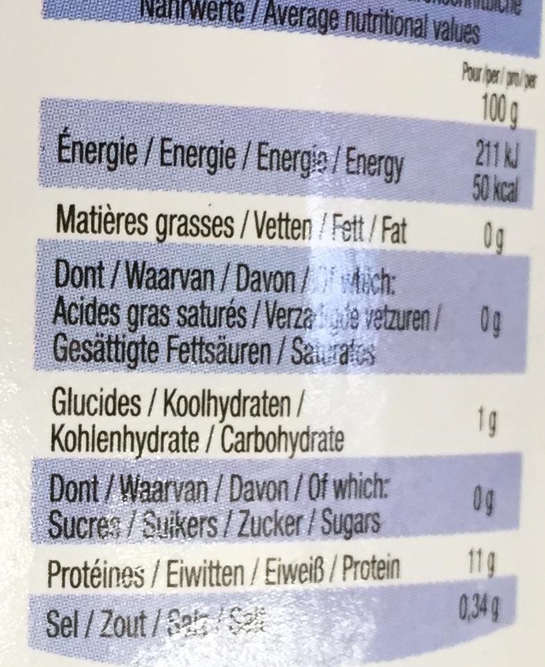 Miettes de crabe - Informations nutritionnelles - fr