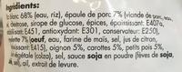 Riz Cantonais surgelé - Ingredients