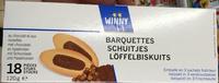 Barquettes au chocolat et aux noisettes - Produit - fr