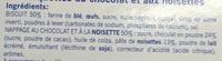 Barquettes au chocolat et aux noisettes - Ingrédients - fr