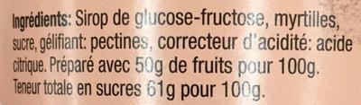 Confiture de myrtilles - Ingredienti - fr