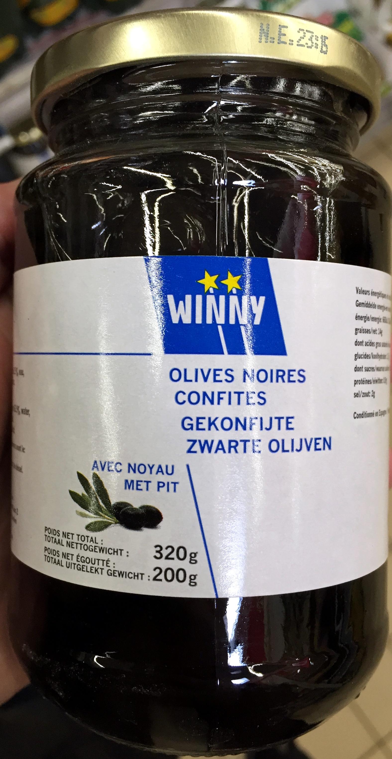 Olives noires confites avec noyau - Product - fr