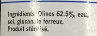 Olives noires confites avec noyau - Ingredients - fr