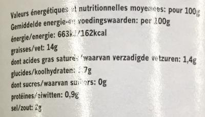 Olives noires confites avec noyau - Nutrition facts - fr