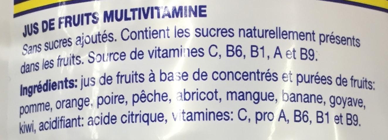 Jus de fruits multivitaminé - Ingrédients - fr