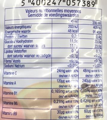 Jus de fruits multivitaminé - Informations nutritionnelles - fr