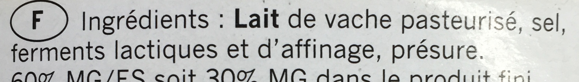 Double crème (30% MG) - Ingrédients - fr