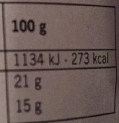 Camembert (21 % MG) - Voedingswaarden