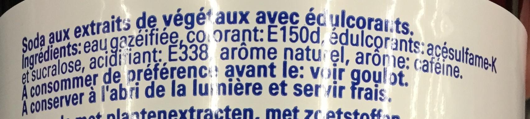Cola - Ingrédients - fr