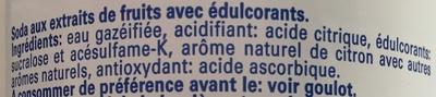 Limonade Blanche - Ingrédients