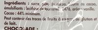 Dessert Chocolat - Ingrédients - fr