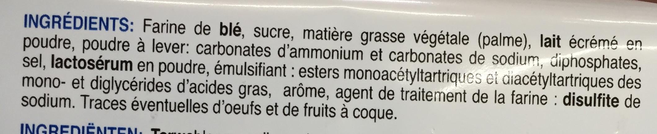 Goûters secs - Ingrediënten - fr