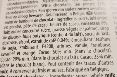 Chocolates ';Selection'; In Ballotin 500G - Ingrédients