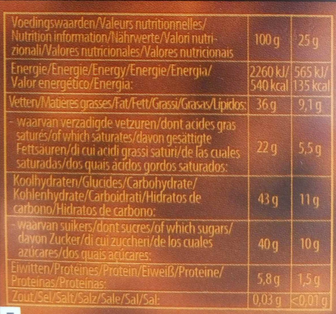 Chocolate Fondue - Informations nutritionnelles - fr