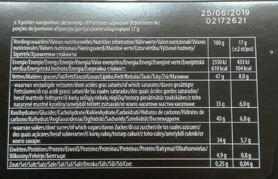 Truffels - Informations nutritionnelles