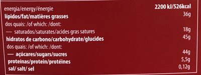Boite de chocolat - Nutrition facts - fr