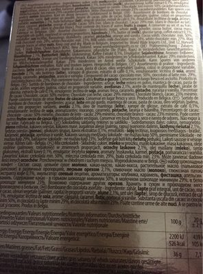 Chocolats - Ingrédients - fr