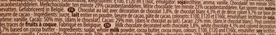 Chocolat Belge - Ingredients