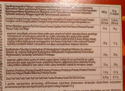 Chocolat Belge - Nutrition facts