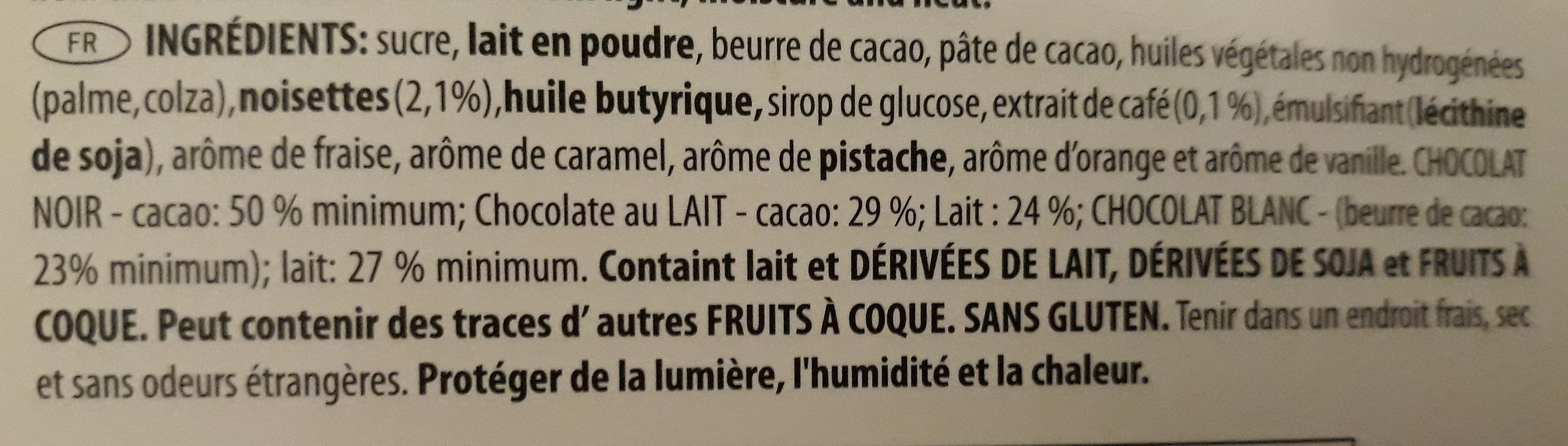 belgian chocolates - Ingrédients - fr