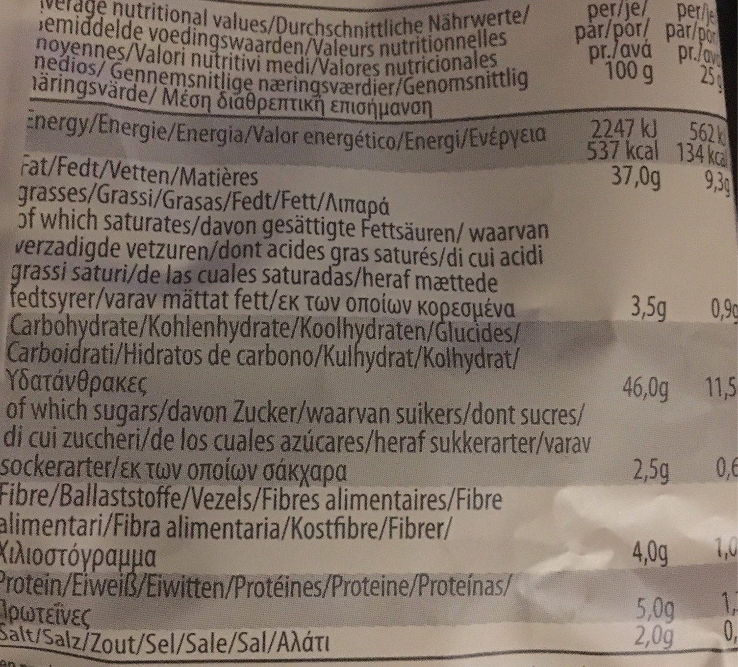 Potato Chips Natural - Informations nutritionnelles