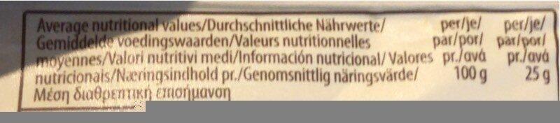 Trafo Tortilla Chips Naturel - Informations nutritionnelles - fr