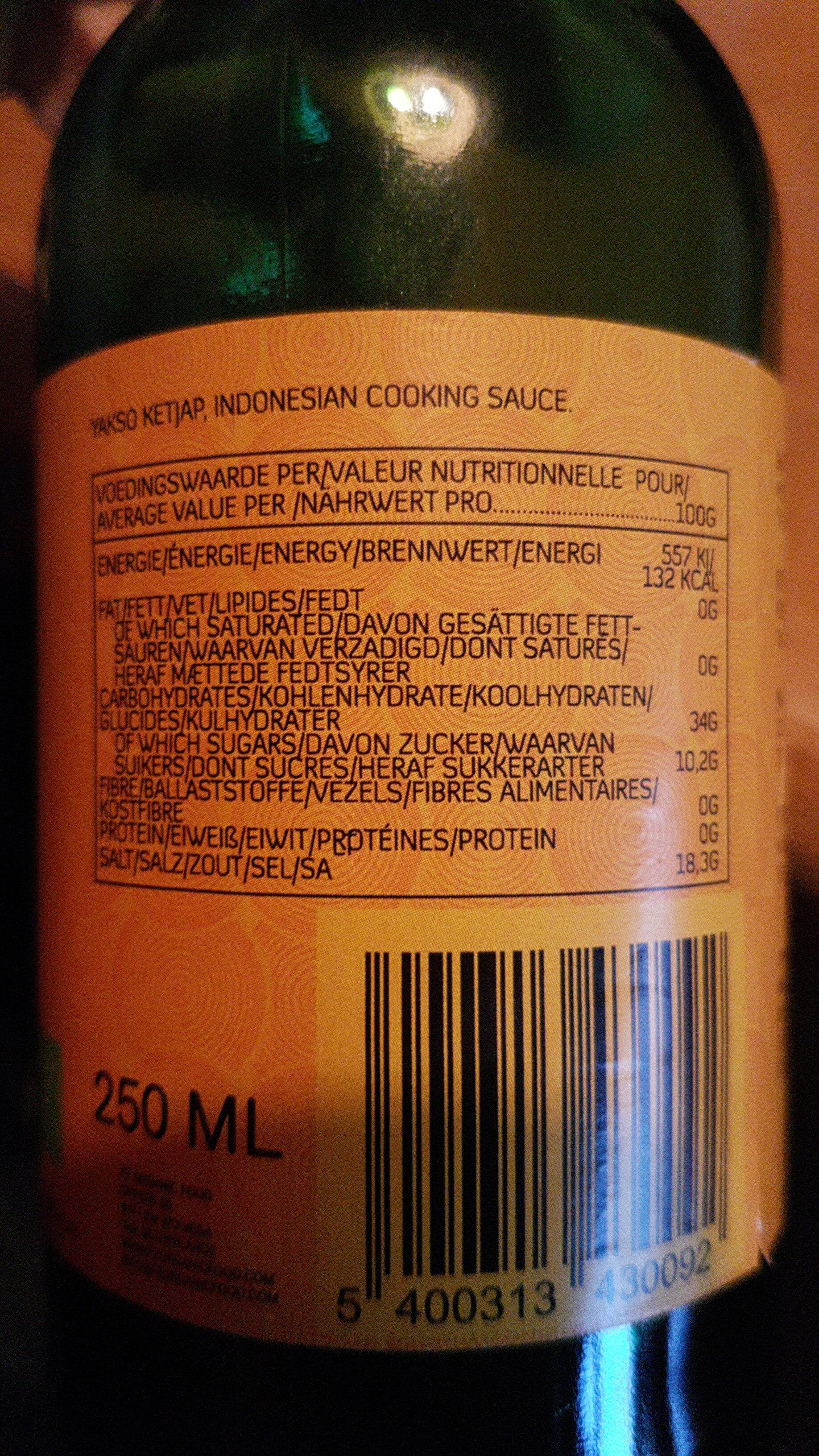 Ketjap Asin - Nutrition facts - nl